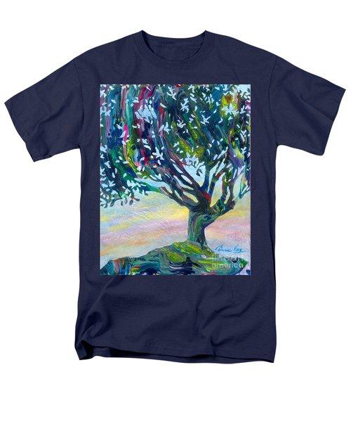 Whimsical Tree Pastel Sky Men's T-Shirt  (Regular Fit) by Denise Hoag
