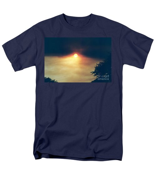 Men's T-Shirt  (Regular Fit) featuring the photograph Wildfire Smoky Sky by Kerri Mortenson