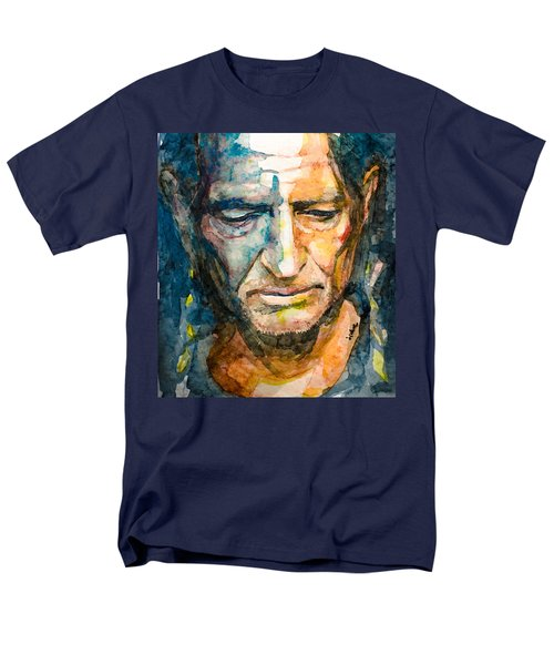 Men's T-Shirt  (Regular Fit) featuring the painting Willie Nelson  by Laur Iduc