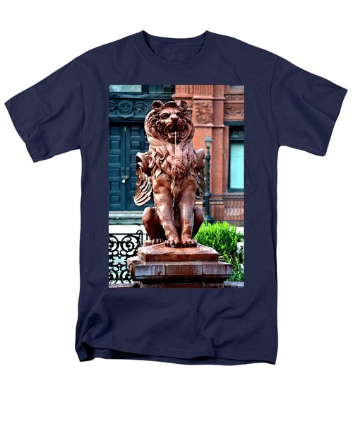 Winged Lion Fountain Men's T-Shirt  (Regular Fit) by Tara Potts