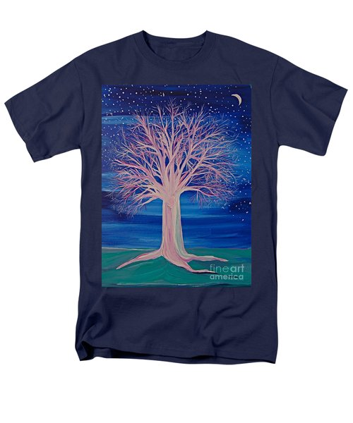 Men's T-Shirt  (Regular Fit) featuring the painting Winter Fantasy Tree by First Star Art