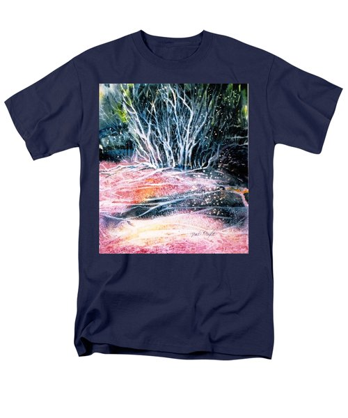 Men's T-Shirt  (Regular Fit) featuring the painting Winter Habitat No.1 by Trudi Doyle