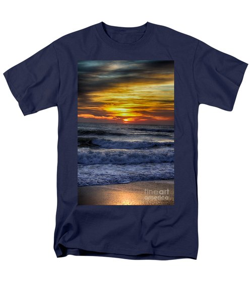 Winter North Carolina Sunrise Men's T-Shirt  (Regular Fit) by Tony Cooper