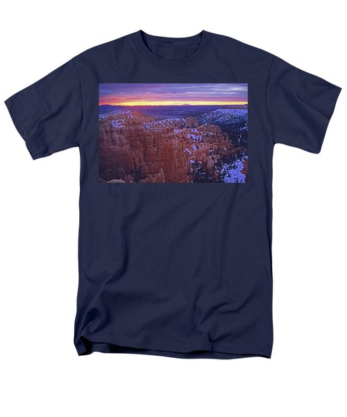 Men's T-Shirt  (Regular Fit) featuring the photograph Winter Sunrise At Bryce Canyon by Susan Rovira