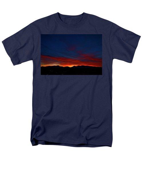 Winter Sunset Men's T-Shirt  (Regular Fit) by Jeremy Rhoades