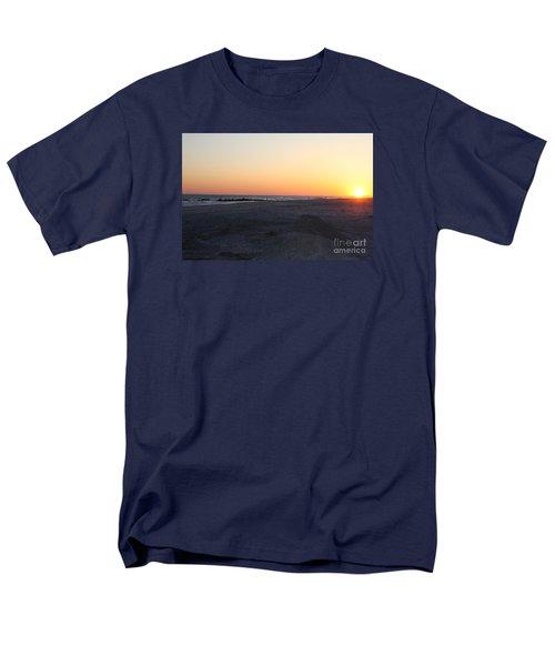 Winter Sunset On Long Beach Men's T-Shirt  (Regular Fit) by John Telfer