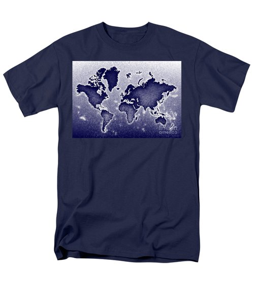 World Map Novo In Blue Men's T-Shirt  (Regular Fit) by Eleven Corners