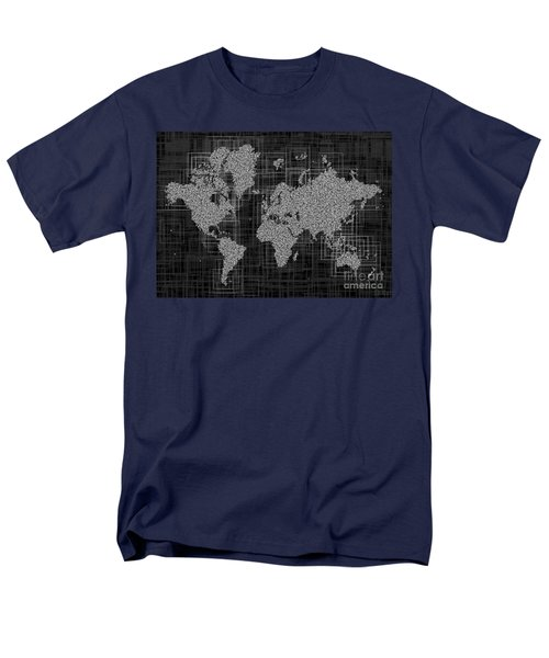 World Map Rettangoli In Black And White Men's T-Shirt  (Regular Fit) by Eleven Corners