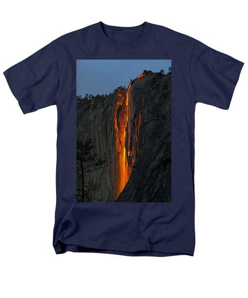 Yosemite Horsetail Falls Men's T-Shirt  (Regular Fit) by Duncan Selby