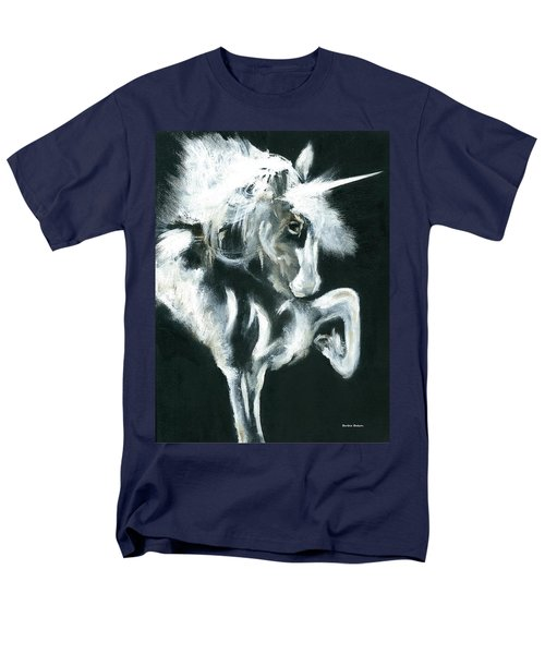 Men's T-Shirt  (Regular Fit) featuring the painting Unicorn by Barbie Batson