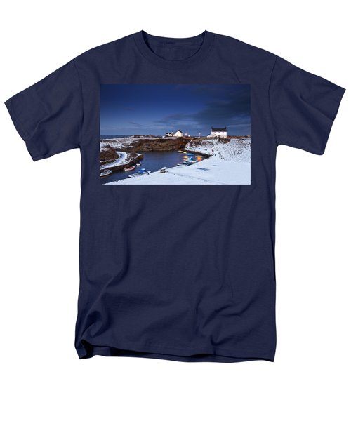Men's T-Shirt  (Regular Fit) featuring the photograph A Village On The Coast Seaton Sluice by John Short