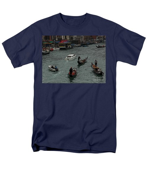 Men's T-Shirt  (Regular Fit) featuring the photograph Along The Canal by Vivian Christopher