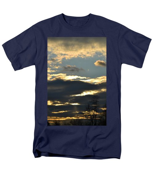 Backlit Clouds Men's T-Shirt  (Regular Fit) by Bonnie Myszka