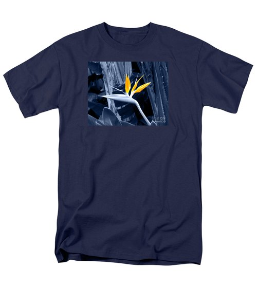 Blue Bird Of Paradise Men's T-Shirt  (Regular Fit) by Rebecca Margraf