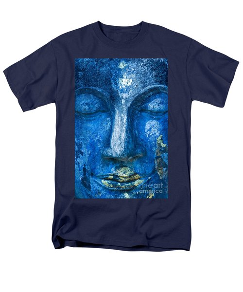 Men's T-Shirt  (Regular Fit) featuring the photograph Blue Buddha  by Luciano Mortula