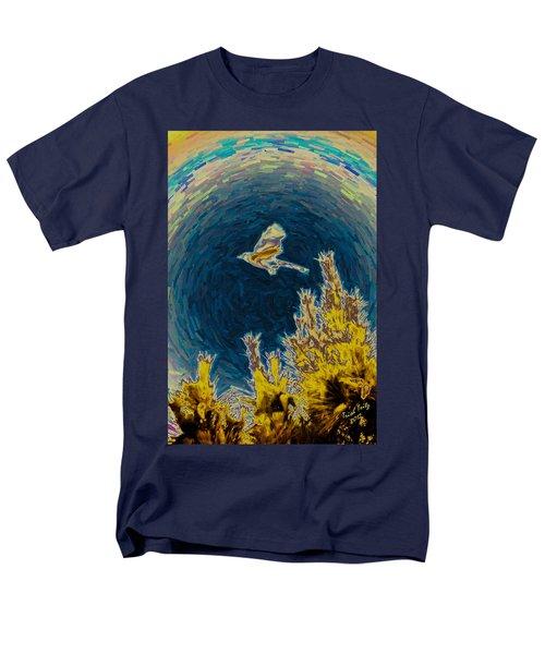 Bluejay Gone Wild Men's T-Shirt  (Regular Fit) by Trish Tritz