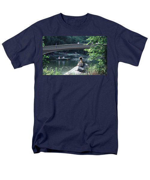 Men's T-Shirt  (Regular Fit) featuring the photograph Bow Bridge In Central Park Nyc by Tom Wurl