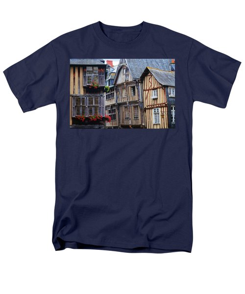 Men's T-Shirt  (Regular Fit) featuring the photograph Brittany Buildings by Dave Mills
