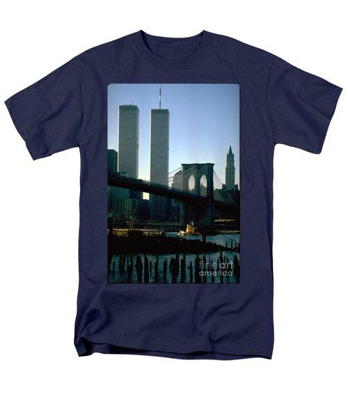 East River Tugboat Men's T-Shirt  (Regular Fit) by Mark Gilman