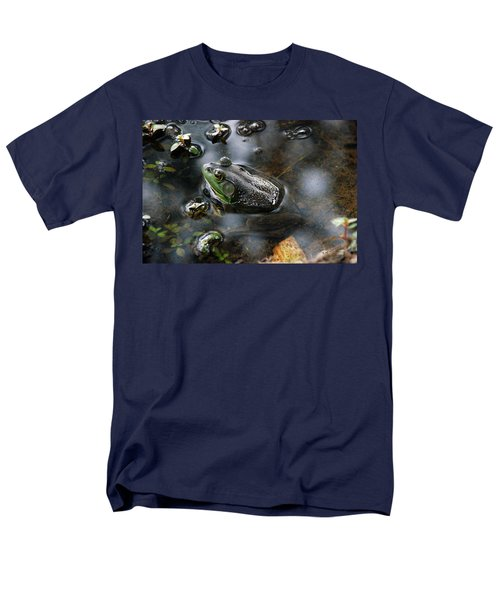 Frog In The Millpond Men's T-Shirt  (Regular Fit) by Kay Lovingood
