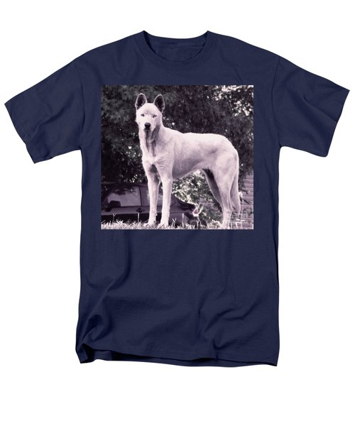 Ghost The Wolf Men's T-Shirt  (Regular Fit) by Maria Urso