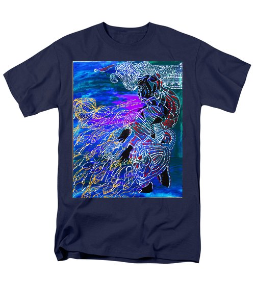 Men's T-Shirt  (Regular Fit) featuring the painting Jesus Reaps His Harvest by Gloria Ssali