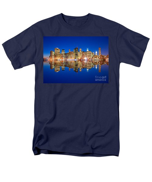 Men's T-Shirt  (Regular Fit) featuring the photograph Manhattan by Luciano Mortula