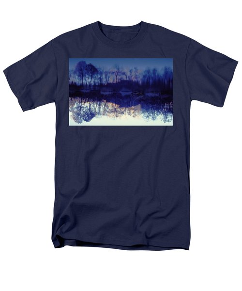 Men's T-Shirt  (Regular Fit) featuring the photograph Mirror Pond In The Berkshires by Tom Wurl