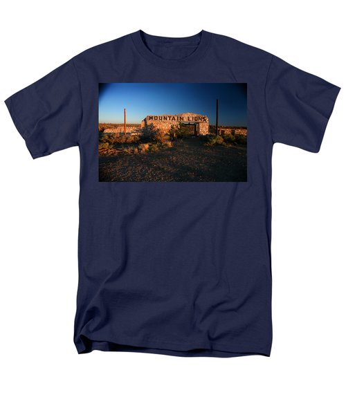 Men's T-Shirt  (Regular Fit) featuring the photograph Mountain Lions At Two Guns by Lon Casler Bixby