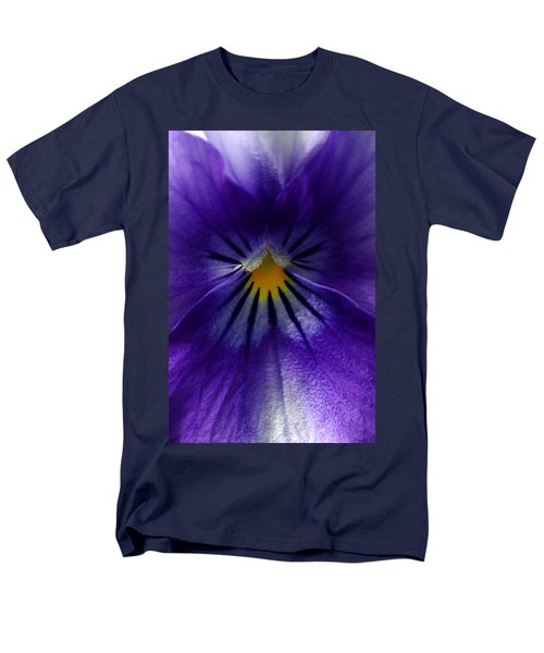Pansy Abstract Men's T-Shirt  (Regular Fit) by Lisa Phillips