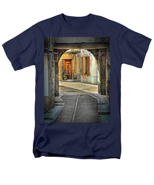 Men's T-Shirt  (Regular Fit) featuring the photograph Passageway And Arch In Provence by Dave Mills