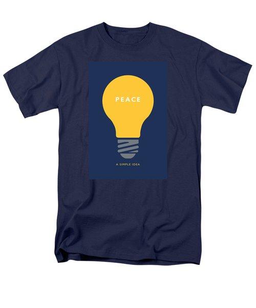 Peace A Simple Idea Men's T-Shirt  (Regular Fit) by David Klaboe