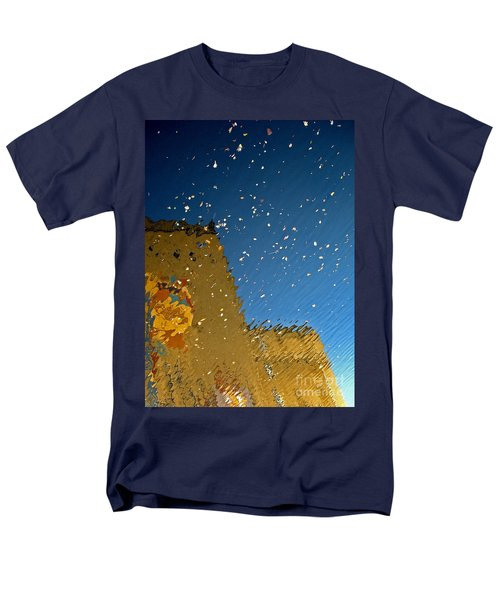 Men's T-Shirt  (Regular Fit) featuring the photograph River Crossing Border Crossing by Andy Prendy