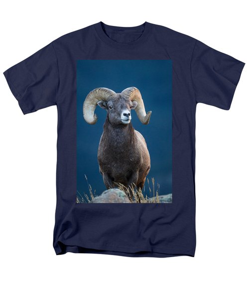 Rocky Mountain Big Horn Men's T-Shirt  (Regular Fit) by Ronald Lutz