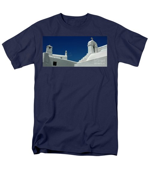 Men's T-Shirt  (Regular Fit) featuring the photograph Rooftops Of Mykonos by Vivian Christopher