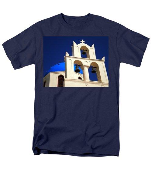 Men's T-Shirt  (Regular Fit) featuring the photograph santorini Church Greee by Colette V Hera  Guggenheim