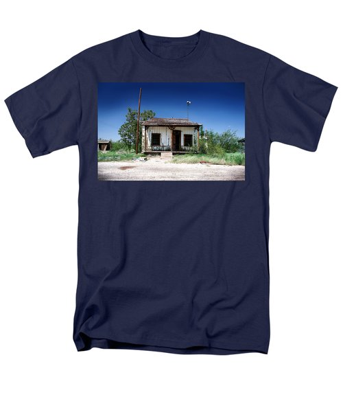 Men's T-Shirt  (Regular Fit) featuring the photograph Somewhere On The Old Pecos Highway Number 3 by Lon Casler Bixby