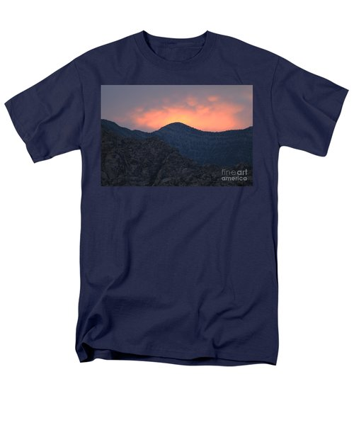 Men's T-Shirt  (Regular Fit) featuring the photograph Sunset Over Red Rock by Art Whitton