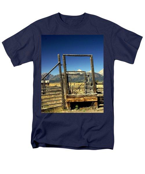 Men's T-Shirt  (Regular Fit) featuring the photograph Teton Ranch by Marty Koch
