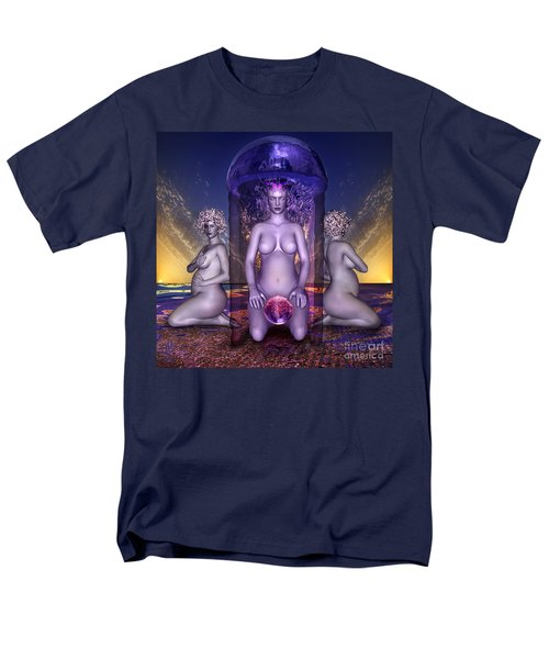 Men's T-Shirt  (Regular Fit) featuring the digital art The Shrine Of Life by Rosa Cobos