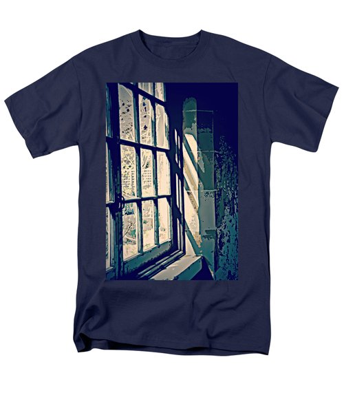 Men's T-Shirt  (Regular Fit) featuring the photograph View Through The Window - Painterly Effect by Marilyn Wilson