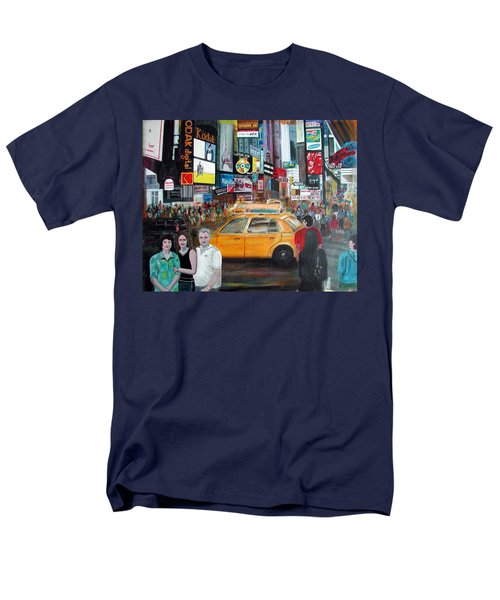 Men's T-Shirt  (Regular Fit) featuring the painting Times Square by Anna Ruzsan