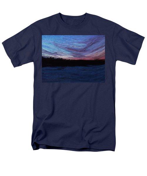 Men's T-Shirt  (Regular Fit) featuring the digital art Winter Sunset by Lauren Radke