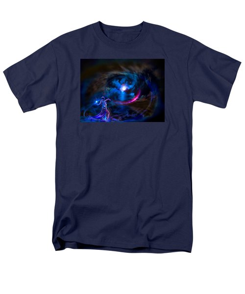 Men's T-Shirt  (Regular Fit) featuring the photograph  Entrancing The Mystical Moon by Glenn C Feron