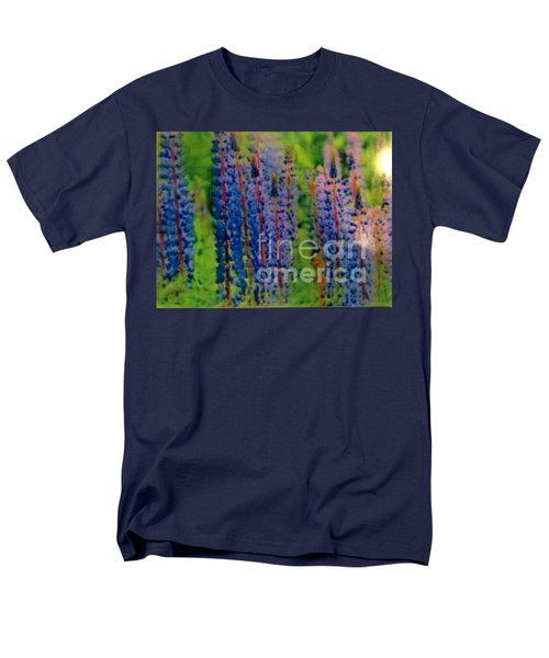 Men's T-Shirt  (Regular Fit) featuring the painting  Lois Love Of Lupine by FeatherStone Studio Julie A Miller