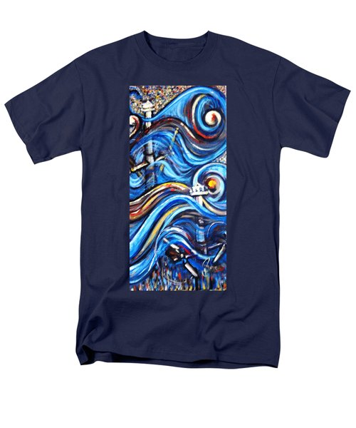 Men's T-Shirt  (Regular Fit) featuring the painting A Ray Of Hope 4 by Harsh Malik