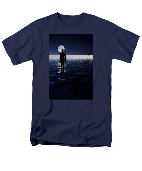 Antony Gormley Statues Crosby Men's T-Shirt  (Regular Fit)