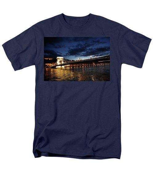 Blue Danube Sunset Budapest Men's T-Shirt  (Regular Fit) by KG Thienemann