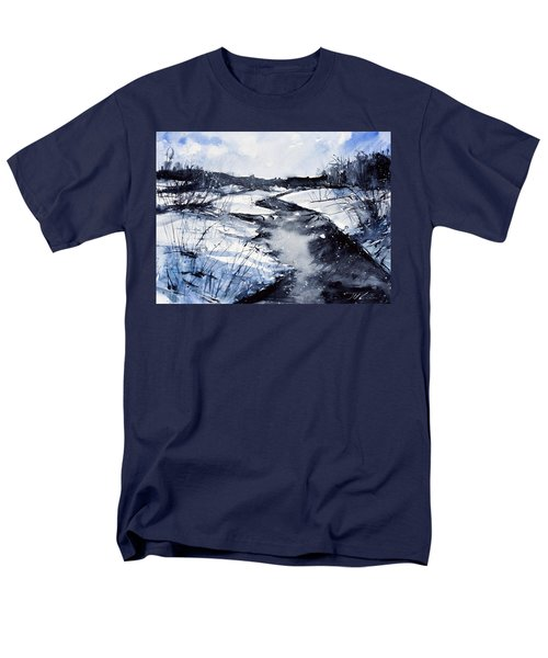 Blue Men's T-Shirt  (Regular Fit) by Judith Levins