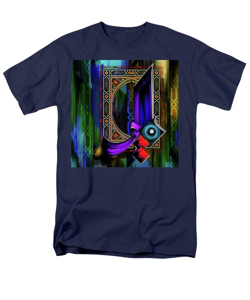Men's T-Shirt  (Regular Fit) featuring the painting Calligraphy 100 1 by Mawra Tahreem
